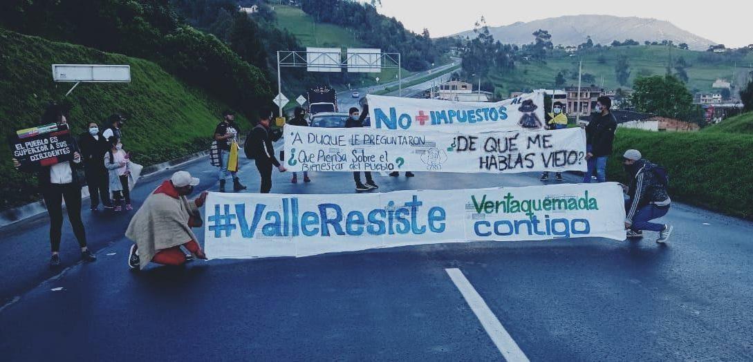 Friedlicher Protest in der Gemeinde Ventaquemada in der Provinz Boyacá, Protesta pacífica en el municipio de Ventaquemada en la provincia de Boyacá